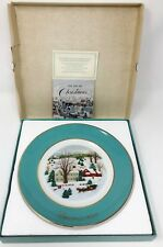 "Vintage 1973 First Edition ""Christmas on the Farm� Avon Plate - New With Box"