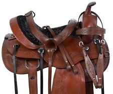 USED NATIONAL GAITED TENNESSEAN TRAIL LEATHER HORSE SADDLE TACK SET 15""