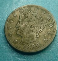 Liberty Head Nickel  1896   #LN1896