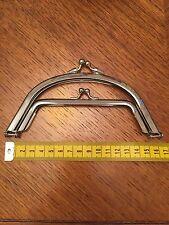 16cm Double Snap Purse bag Clasp Frame Chrome - purse frame