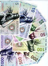 SET, Kuninganna 5;10;25;50;100;200;500;1000 Fusto, Private Issue, 2015, UNC