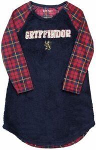 Harry Potter Gryffindor Nightgown Long Sleeve Hogwarts Girls Size 8 Medium NWT
