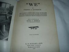 """WE"" by Charles Lindbergh Hardcover 1928"
