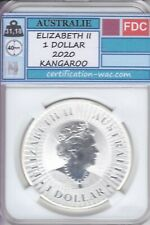 ELIZABETH II 1 DOLLAR 2020 KANGAROO 1 ONCE D'ARGENT AUSTRALIE