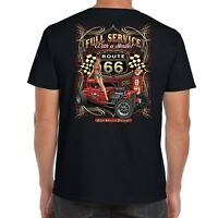 Mens Hotrod 58 T Shirt Hot Rod Service American Garage Rat Vintage Classic 19