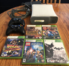 Microsoft Xbox 360 White Console 2 Controller 5 Game Bundle Tested Works