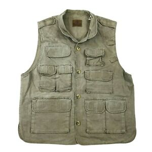 Vintage Redhead Canvas Hunting Fishing Vest Size Large Tall Multi Pocket Pouch