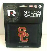 USC Trojans SC Nylon Tri-fold Vinyl Wallet NHL Hockey Black