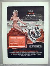 Aeromarine Boat Speedometer PRINT AD - 1948 ~ Aeromarine Instrument Co., mermaid