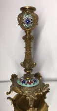 Antique French Gilt Bronze Champleve Candlestick Art Nouveau 19th Century