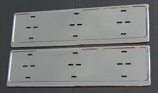 2 x Kennzeichenhalter aus ROSTFREIEM STAHL Nummernschildhalter, Hochglanzpoliert