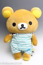 San-x Rilakkuma blue Onsen edition plush BIG XL 40cm Plush Original Sanrio Japan