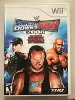 WWE SmackDown vs. Raw 2008 Featuring ECW (Nintendo Wii, 2007) With Manual