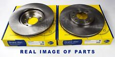 2X FRONT AXLE BRAKE DISCS FOR CHEVROLET HOLDEN LOTUS OPEL SAAB VAUXHALL ADC1107V