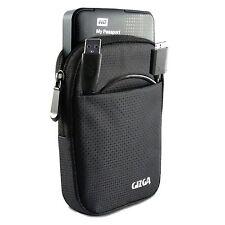 "GIZGA 2.5"" Hard Drive Case - Impact Resistant Jacket Pouch (Black)"