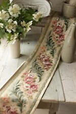 Vintage French border fabric printed cotton floral material sold by the length