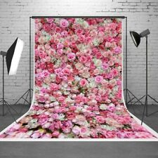 5x7ft Pink Rose Photography Backgrounds Wedding Party Photo Backdrop Vinyl