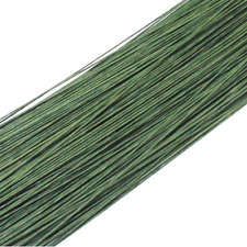 50PCS Dark Green #20 Paper Covered Wire DIY Nylon Stocking Flower Making