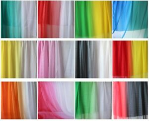 2-tone Ombre Gradient Color 30D Sheer Chiffon Tissu Dress Fabric Sold By Yard