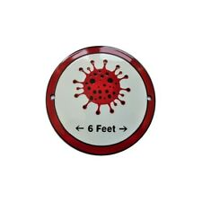 Weatherproof Enamel / porcelain Safe Distance Warning Sign Shield 15.3/4 Inch