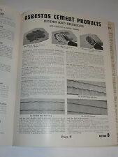 VINTAGE 1940 USG UNITED STATES GYPSUM CATALOG! ASBESTOS CEMENT SIDING & ROOFING