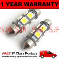 2X GREEN CANBUS NUMBER PLATE INTERIOR BRIGHT SMD LED BULBS 30 36 39 42 44MM OD