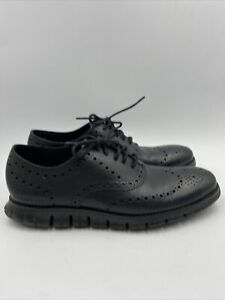 Cole Haan Mens Oxford Black Shoes 10.5 M , 062
