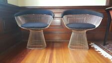 Vintage Pair Knoll Warren Platner Polished Arm Chairs