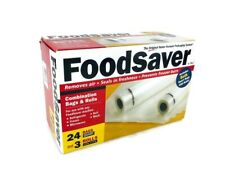 FoodSaver Combination Bags And Rolls 24 Quart Bags 3 Rolls NIB