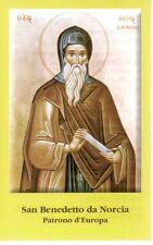 51 San Benedetto da Norcia  Santino Holycard