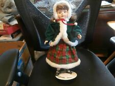 Vintage porcelain doll Caroline Applause Pirouette 1988 winter Christmas