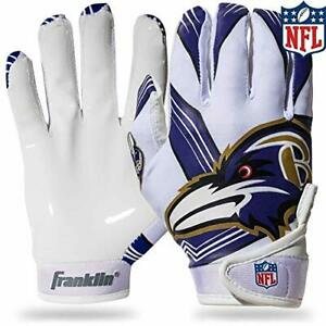 Franklin Sports Baltimore Ravens Youth NFL Football Receiver Gloves - Receive...