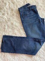 New 3x1 Nyc M5 Jeans Men Dark Metta Blue Jeans Skinny Denim Pants SZ 31 Cut 1248
