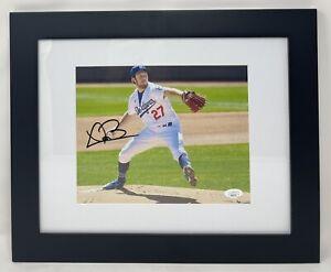 LA Dodgers TREVOR BAUER Signed Autographed FRAMED 8x10 Photo JSA! NL CY YOUNG