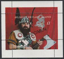 GB Locals - Shetlands (1670) - VIKINGS SPECIMEN m/sheet unmounted mint