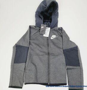 Nike Winterized Tech Fleece NSW Jacket Black Coat Full Zip Hoodie Boys RRP £85