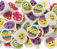 Pack of 24 - Eggcellent Easter Erasers -  Egg Hunt Chicks Teacher Rewards