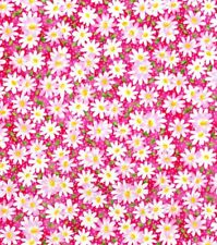 Kids Daisies 100% Cotton Fabric, By 1/2 Yd, Quilting Material, Diy, Crafts