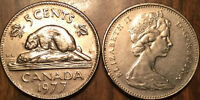 """1977 HIGH """"7"""" CANADA 5 CENTS"""