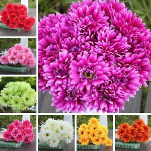 Artificial Gerbera Gerber Daisy Fake Silk Mums Flower Home Party Wedding Decor
