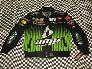 Dale Earnhardt Jr Black AMP KIDS/YOUTH Jacket! Size MEDIUM