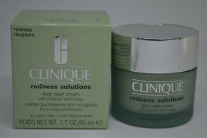 Clinique Redness Solutions Daily Relief Cream BNIB 1.7oz./50ml~probiotic techno~