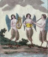 Gravure XVIIIe Sirènes Siren Sirene Сирени Σειρήνες Syrena  Siren 1793