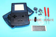 S Transparent Black Housing Shell Case+Screwdrivers f Nintendo Gameboy Color GBC