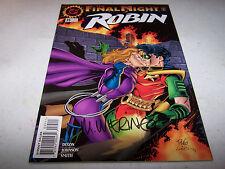 SIGNED MIKE WIERINGO ROBIN #35 DC 1ST PRINT BATMAN'S CRIME FIGHTING PARTNER