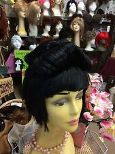 New Black Geisha Bob Wig Full Wig Hair Anime Wig Cosplay + Wig net