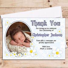 10 Ragazzi Personalizzato Compleanno Battesimo Baby Nascita grazie Foto Cards N213