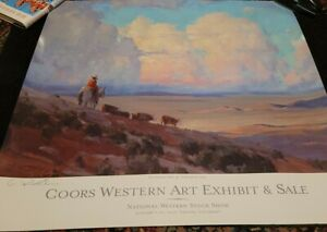 G Russell Case Signed Poster Coors Western Art Exhibit 2010 NW Stock Show