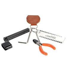 5-in-1 Guitar String Winder Action Ruler Cutter Pick Case Hexagon Wrench I3S7