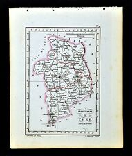 1841 Perrot France Map Departement - Cher Bourges St. Amand Sancerre Chateauneuf